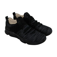 Skechers Drafter Pinced Mens Black Textile Athletic Lace Up Training Shoes