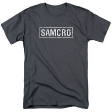 Sons Of Anarchy Samcro Mens Short Sleeve Shirt Charcoal