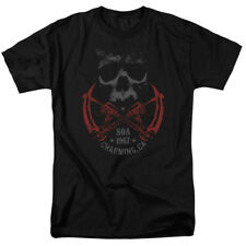 Sons Of Anarchy Cross Guns Mens Short Sleeve Shirt Black