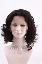 Cheap Quality Human Hair Full Wig Lace Front Short Wigs Natural Wavy BOB Curly