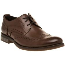 New Mens Rockport Brown Madson Wingtip Leather Shoes Brogue Lace Up