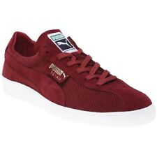 New Mens Puma Red Te-Ku Summer Suede Trainers Retro Lace Up