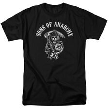 Sons Of Anarchy Soa Reaper Mens Short Sleeve Shirt Black