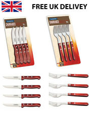 Sharp Knives And Forks Steak Cutlery Quality Wooden Handles Brazilian Churrasco