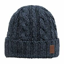Barts Twister Turnup Homme Couvre-chefs Bonnet - Navy Une Taille
