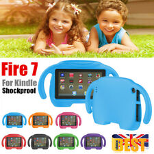 Kids Child Shockproof Soft EVA Handle Stand Case Cover For Amazon Kindle Fire 7