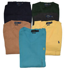 Polo Ralph Lauren Men's Polo V-Neck Pima Cotton Pony Logo Sweater All Sizes
