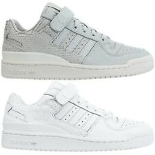 buy popular 4864a dc945 Adidas Forum Lo womens low-top sneakers grey white casual trainers leather  NEW
