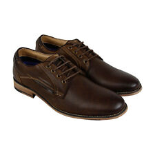 Steve Madden Jaysun Mens Brown Leather Casual Dress Lace Up Oxfords Shoes