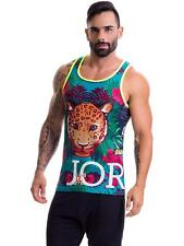 Jor 0408 Amazonia Men's Tank Top Muscle Shirt Mesh with Print Colourful Ae