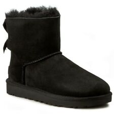 STIVALE DONNA UGG MINI BAILEY BOW II MONTONE BLACK