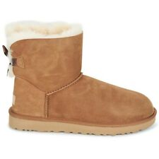 STIVALE DONNA UGG MINI BAILEY BOW II MONTONE CHESTNUT CAMMELLO