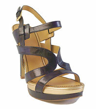Nine West Nero pelle Sandali con Plateau Breezin Donna 9.5