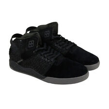 Supra Skytop Iii Mens Black Suede High Top Lace Up Sneakers Shoes
