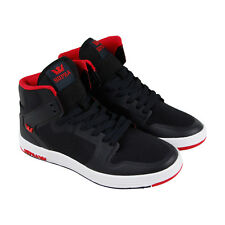 Supra Vaider 2.0 Mens Black Mesh High Top Lace Up Sneakers Shoes