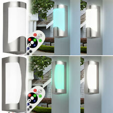 Led Exterior Lámparas RGB Cambio de Color Mando a Distancia Veranda Foco Pared