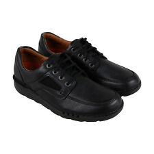 Clarks Unnature Time Mens Black Leather Casual Dress Lace Up Oxfords Shoes