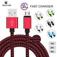 1M 2M 3M Micro USB Data Sync Charger Cable Lead For Samsung Android Phones