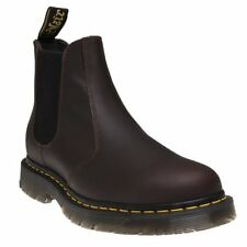 New Mens Dr. Martens Brown 2976 Leather Boots Chelsea Pull On