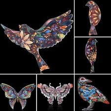 Multi-Color Animals Bird Butterfly Printing Brooch Pin Womens Costume Jewellery