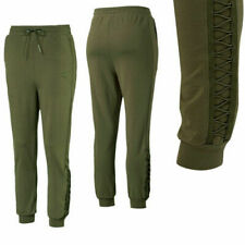 Puma Womens Lacing Track Pants Casual Joggers Trouser Olive 574125 14 M11