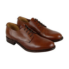 Frye Harrison Oxford Mens Brown Leather Casual Dress Lace Up Oxfords Shoes