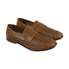 Steve Madden M-Krieg Mens Brown Leather Casual Dress Slip On Loafers Shoes