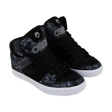 Osiris Clone Mens Black Leather & Mesh Sneakers Lace Up Skate Shoes
