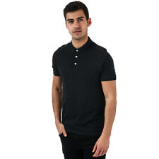 Mens Jack & Jones Paulos Polo Shirt In Black- 3 Button Placket- Short Sleeve-