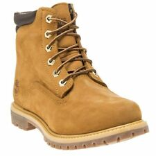 New Womens Timberland Tan Waterville 6` Nubuck Boots Ankle Lace Up