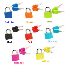 Mini Strong Steel Padlock Travel Suitcase Notepad Diary Lock With 2 Keys