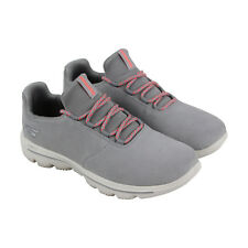 dc03955edce4 Skechers Gowalk Evolution Ultra Womens Gray Suede Athletic Running Shoes