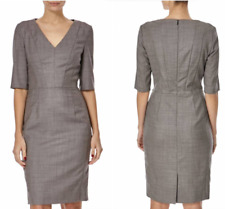 Boss By Hugo Boss Davet Stretch Wool Pencil Cocktail Office Party Dress 12 40