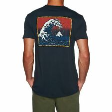 Quiksilver The Original Mountain And Wave Mens T-shirt - Black All Sizes