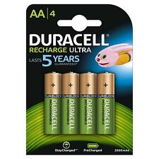 Duracell Recharge Ultra Pack de 4 Piles Rechargeables type AA 2500mAh