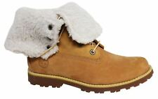 Timberland 6 Inch Lace Up Wheat Leather Shearling Lined Junior Boots A156N D8
