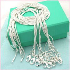 Lots 1/10ocs 925 Solid Silver Snake Chains For Pendant Necklace Jewelry 16-24""