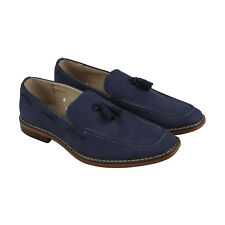 Steve Madden M-Grain Mens Blue Suede Casual Dress Slip On Loafers Shoes