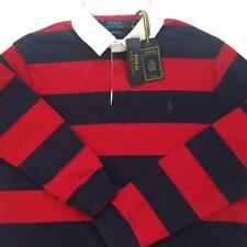 NWT POLO RALPH LAUREN Mens Eaton Red/Navy Striped ICONIC RUGBY SHIRT Sz XL $125