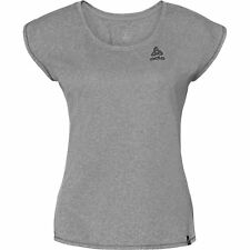Odlo Bl Crew Helle Plain Ss Womens T-shirt Sports Top - Grey Melange All Sizes
