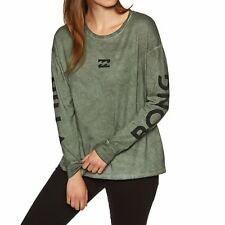 Billabong My Look Womens T-shirt Long Sleeve - Olive All Sizes