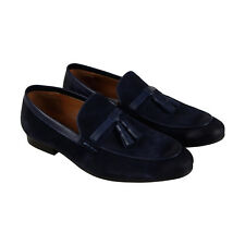 Steve Madden Summit Mens Blue Suede Casual Dress Slip On Loafers Shoes