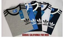 Adidas Originals T-shirt California Raglan Retro Crew Neck Short Sleeve -uk sell