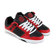 Osiris Pxl Mens Red Leather Sneakers Lace Up Skate Shoes