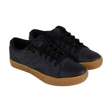 Osiris Turin Mens Black Textile Sneakers Lace Up Skate Shoes