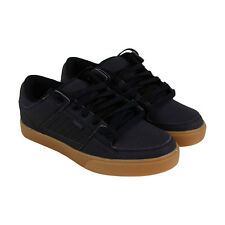 Osiris Protocol Mens Black Leather Sneakers Lace Up Skate Shoes
