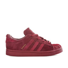 Infant Girls adidas Originals Superstar Trainers In Burgundy- Lace Fastening- Pa