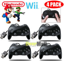 1-4 Pro Classic Game Controller Pad Console Joypad For Nintendo Wii Remote Black