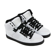 Osiris Nyc 83 Clk Mens White Leather Sneakers Lace Up Skate Shoes