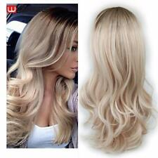 Wignee Long Ombre Brown Ash Blonde High Density Temperature Synthetic Wig For Bl